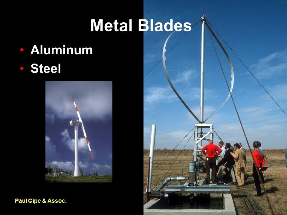 Metal Blades Paul Gipe & Assoc. Aluminum Steel