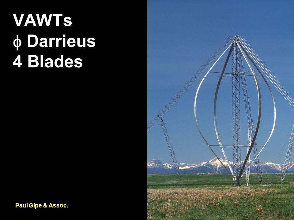 VAWTs  Darrieus 4 Blades Paul Gipe & Assoc.