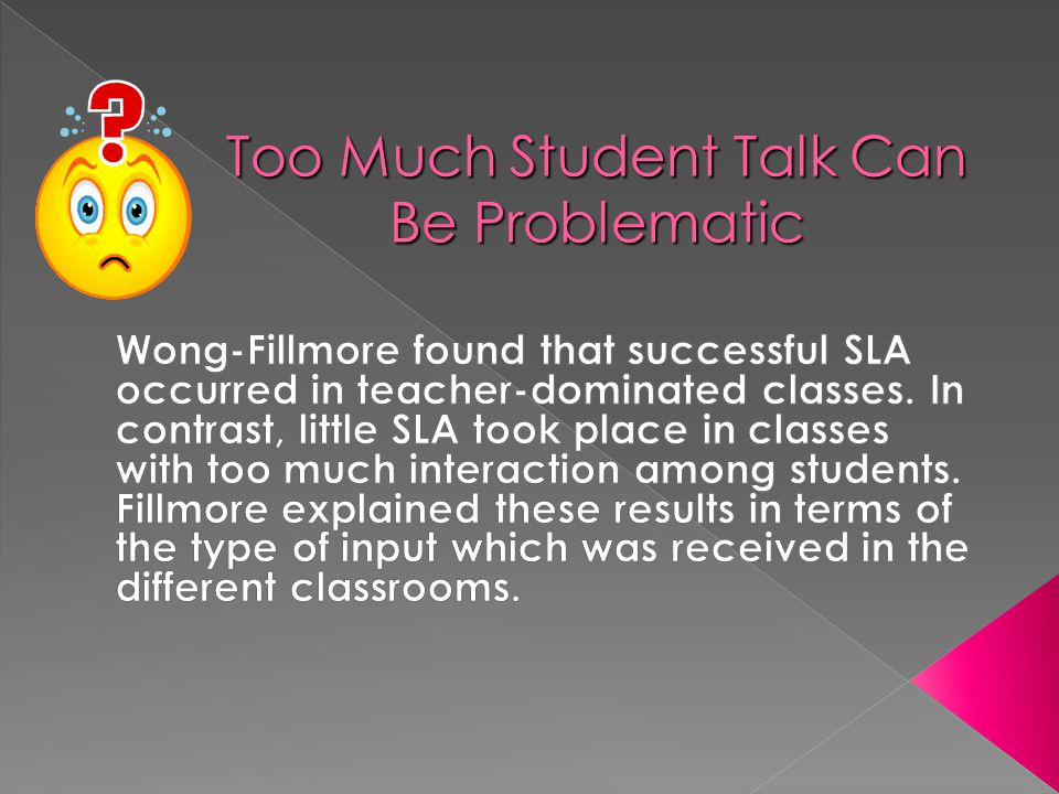 Student Talk Time  Should be 20% of the lesson.