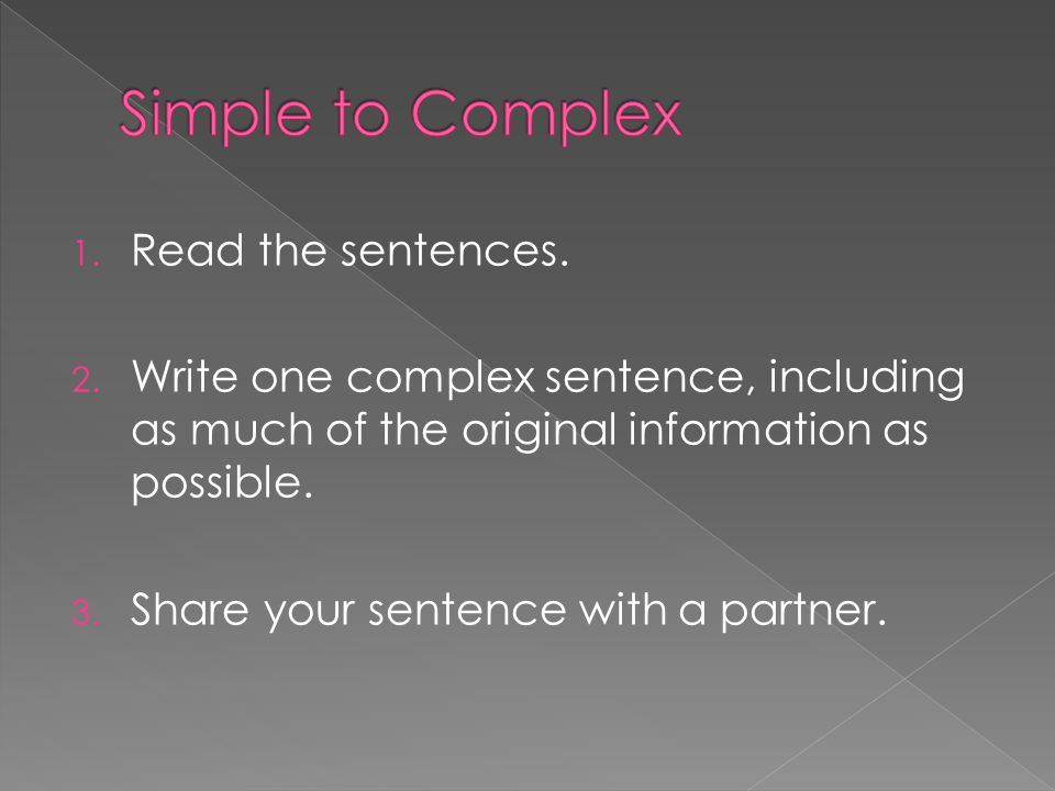  Simple to Complex  Sentence Chain  Point of View Rewrites  Systematic Revising  Juicy Sentences