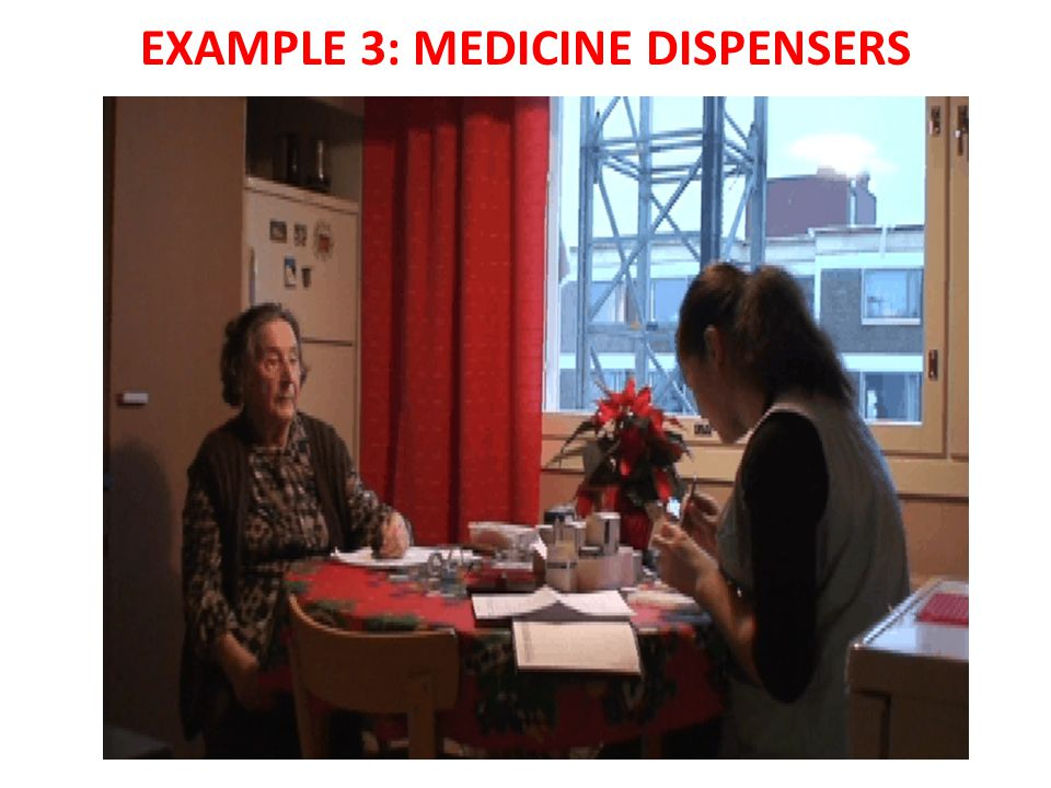 EXAMPLE 3: MEDICINE DISPENSERS