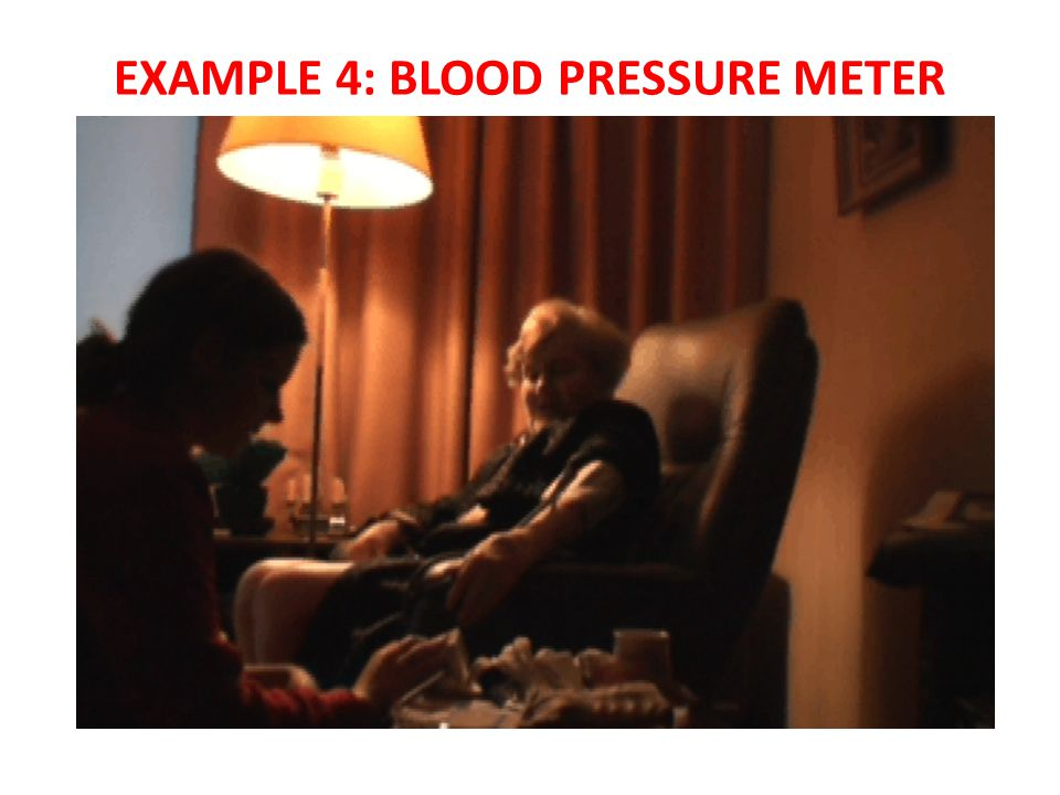 EXAMPLE 4: BLOOD PRESSURE METER