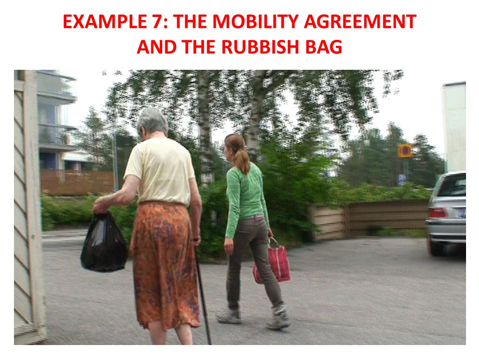 EXAMPLE 7: THE MOBILITY AGREEMENT AND THE RUBBISH BAG