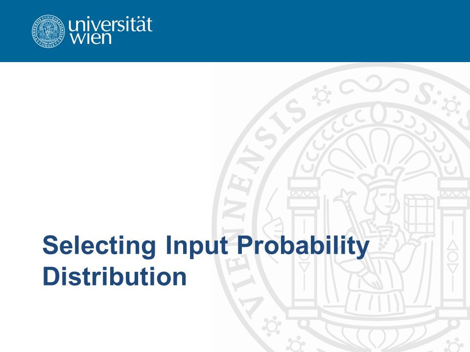 useful probability distribution parameters of continuous distributions –location parameter ° x-axis location usually the midpoint (mean for normal distribution) or lower endpoint also called shift -parameter changes in ° shift the distribution left or right without changing it otherwise –scale parameter ¯ determines scale (unit) of measurement standard deviation ¾ for normal distribution changes in ¯ compress or expand the associated distribution without altering its basic form 040669    WS 2008    Dr.