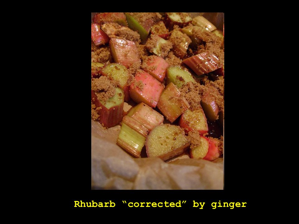 """Rhubarb """"corrected"""" by ginger"""