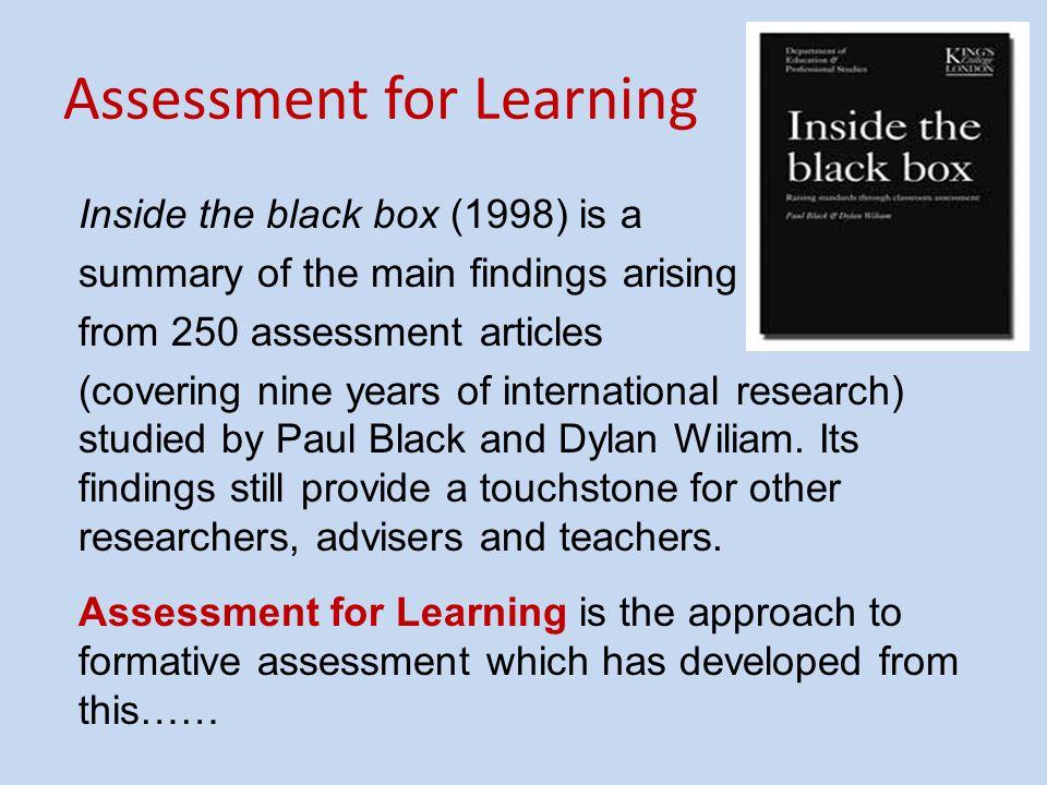 Defining Assessment for Learning.