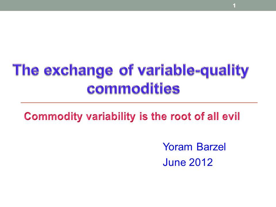 1 Yoram Barzel June 2012