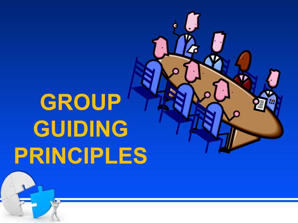 GROUP GUIDING PRINCIPLES