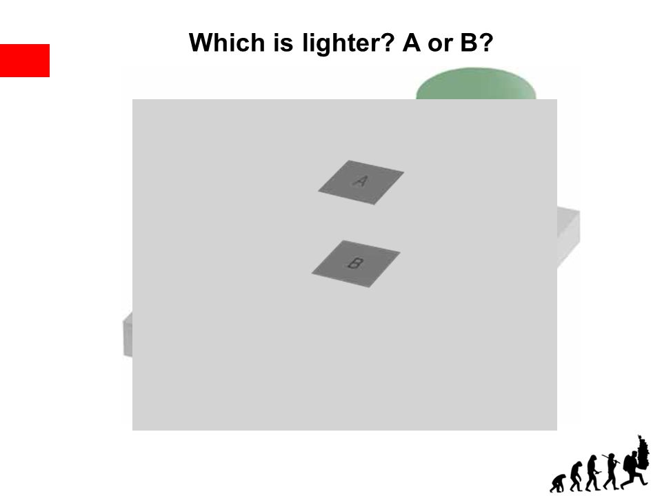 Which is lighter? A or B?