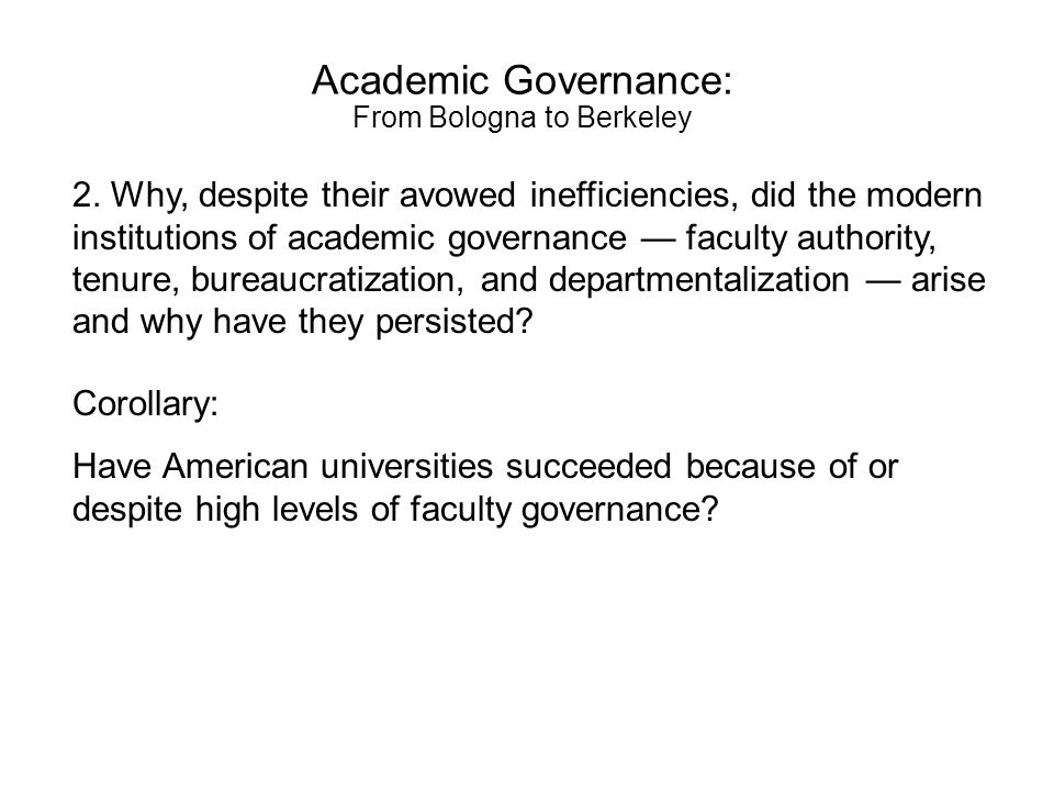 Joint action Faculty determination Faculty decision making authority in U.S.