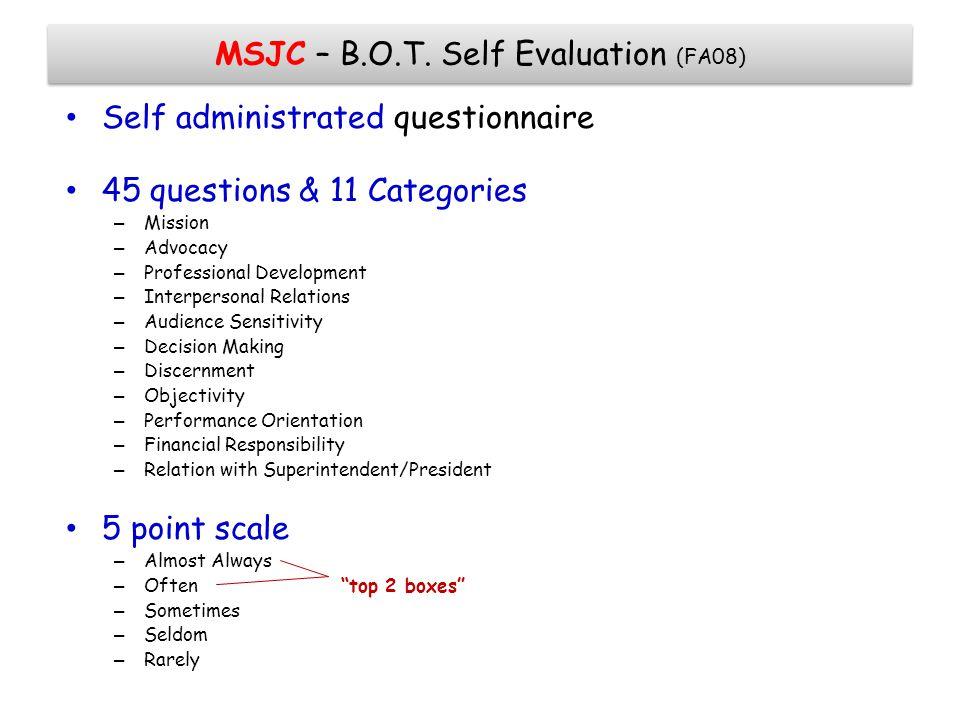 MSJC – B.O.T.