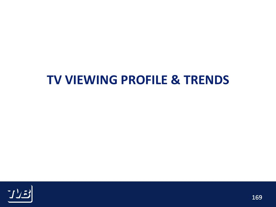 169 TV VIEWING PROFILE & TRENDS