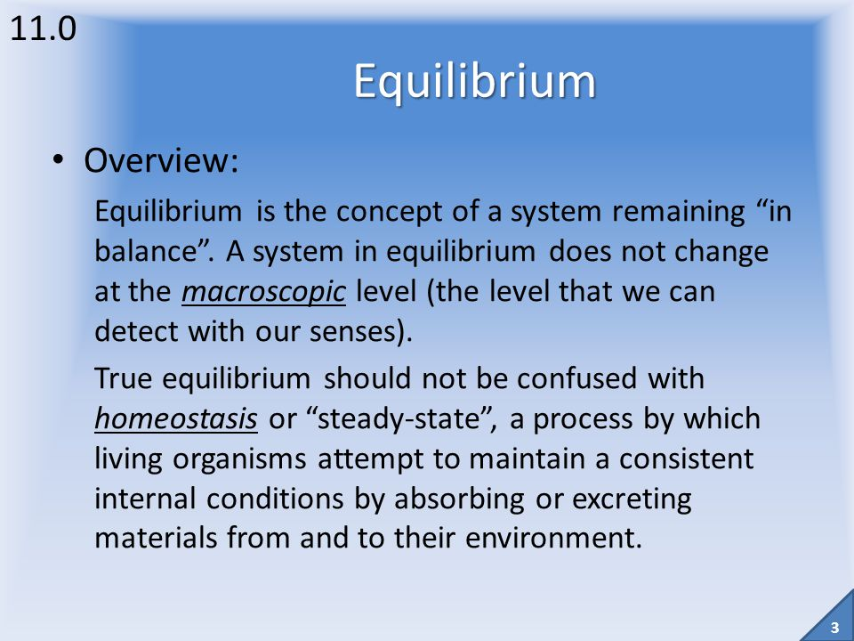 2 Unit 4 (formerly Module 5) Equilibrium