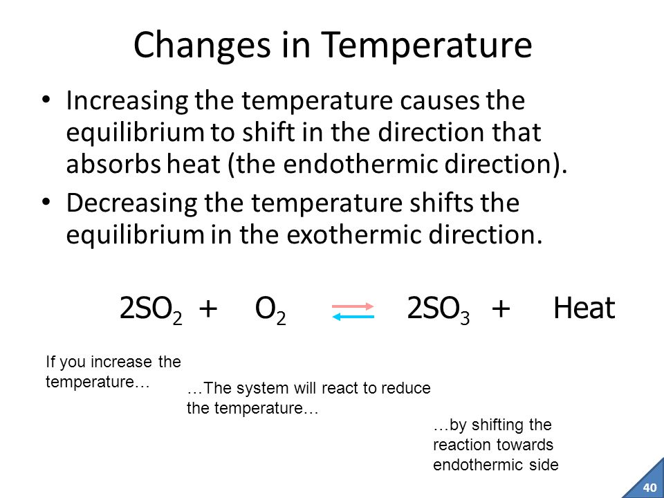 39 Note: Adding more of a undissolvable solid or pure liquid normally has NO EFFECT on a system at equilibrium.