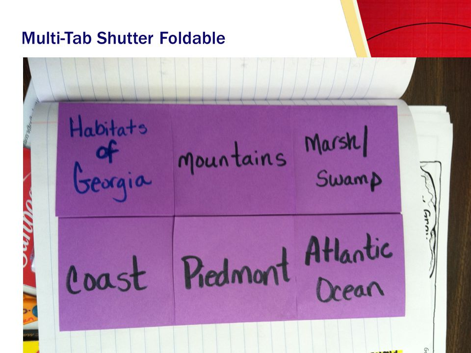Multi-Tab Shutter Foldable