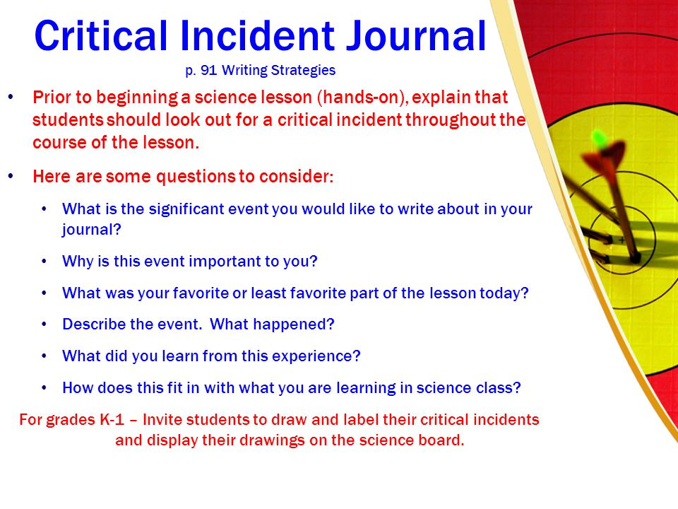 Critical Incident Journal p.
