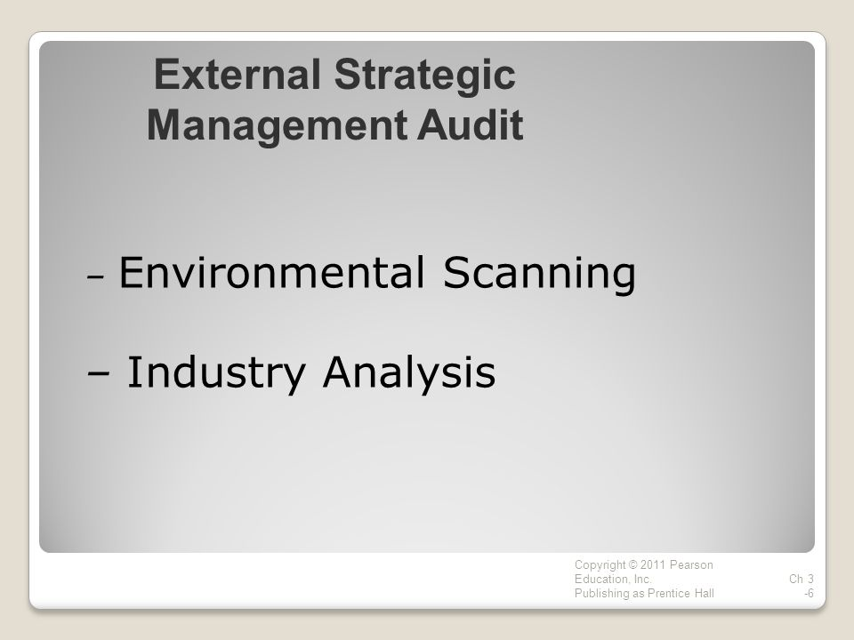 – Environmental Scanning – Industry Analysis Copyright © 2011 Pearson Education, Inc.