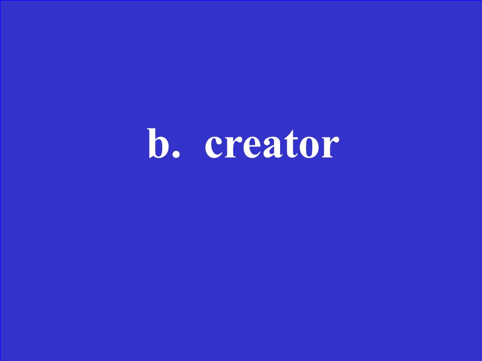The er in speaker the same as the or in--- a.Door b.Creator c.For