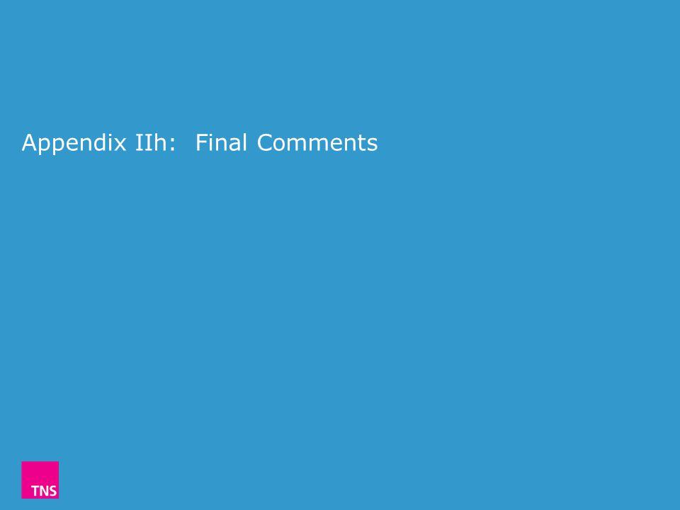 Appendix IIh: Final Comments