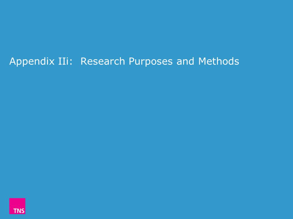 Appendix IIi: Research Purposes and Methods