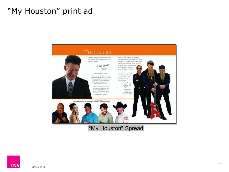 "©TNS 2012 ""My Houston"" print ad ""My Houston"" Spread 78"