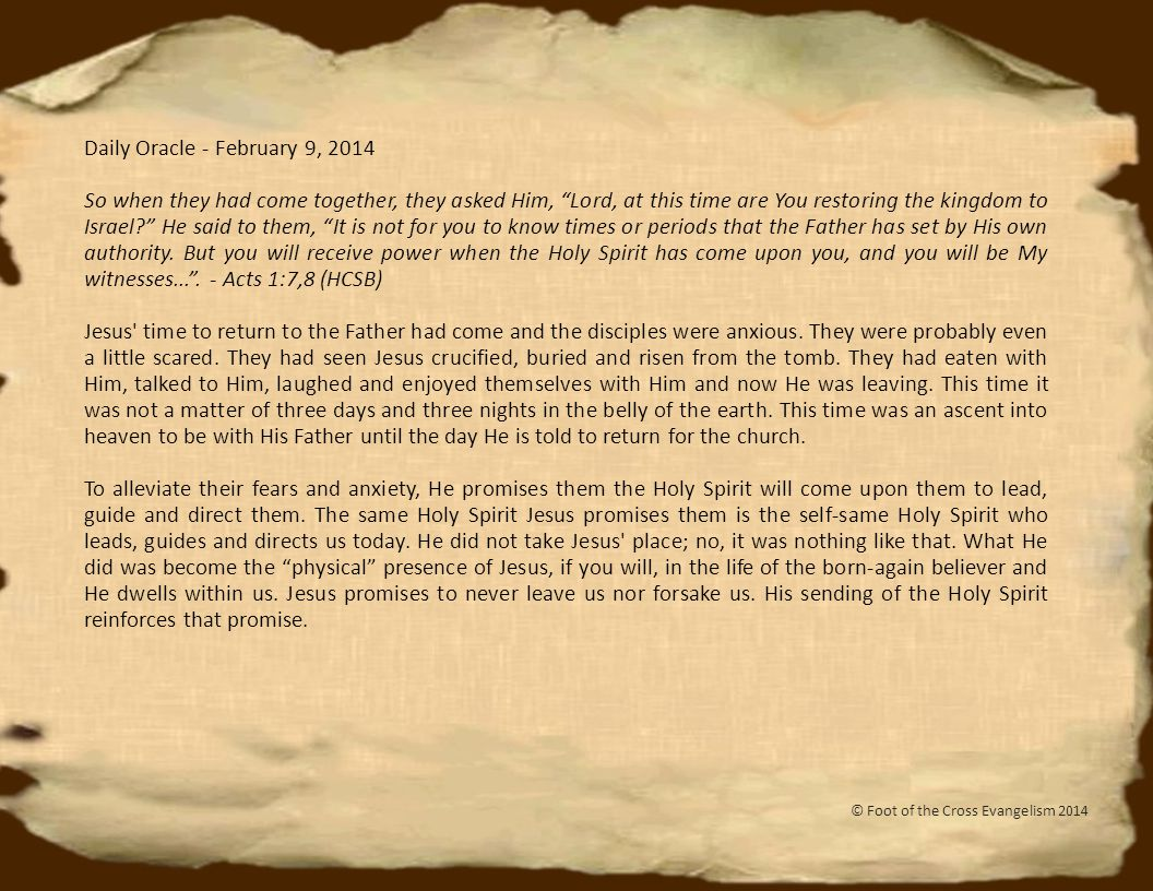 Daily Oracle - February 20, 2014 Therefore, anyone of you who judges is without excuse.