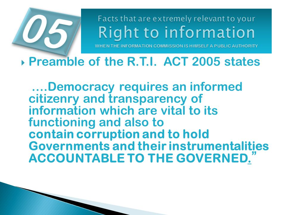 Section 21of Right to Information Act 2005 …….