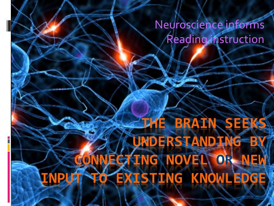 Neuroscience informs Reading instruction
