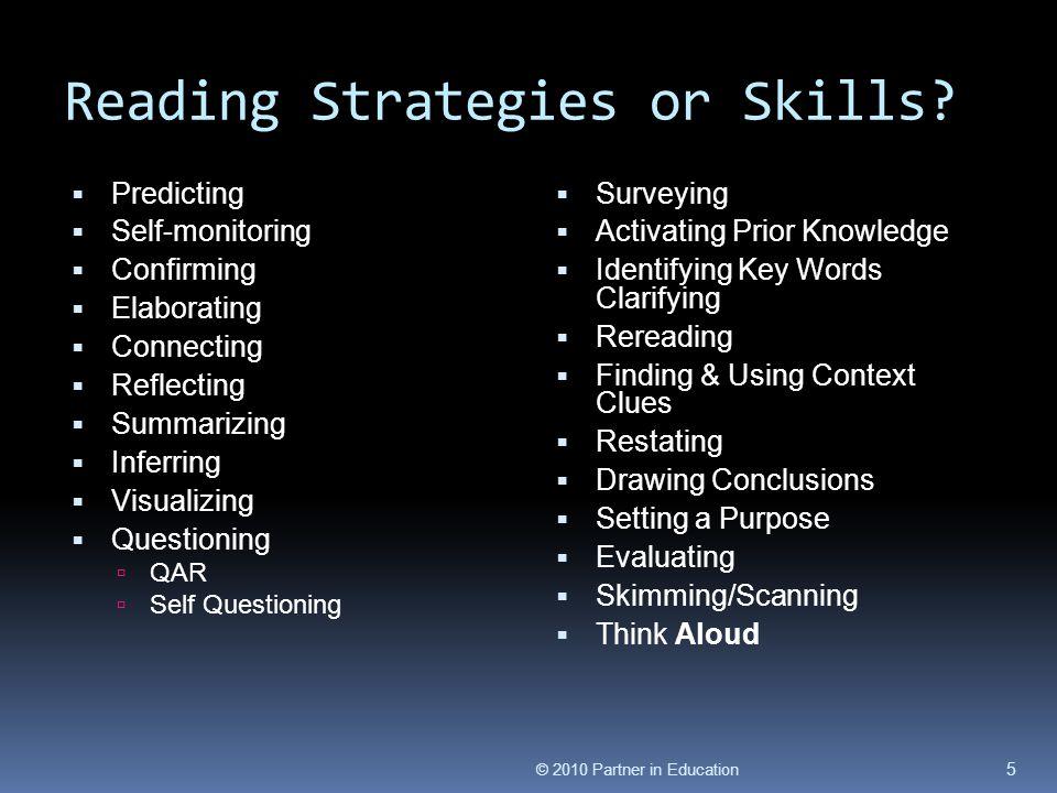 Reading Strategies or Skills.