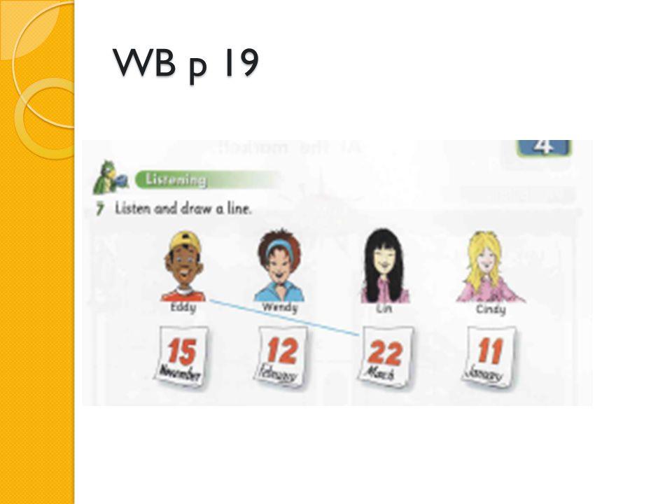 WB p 19