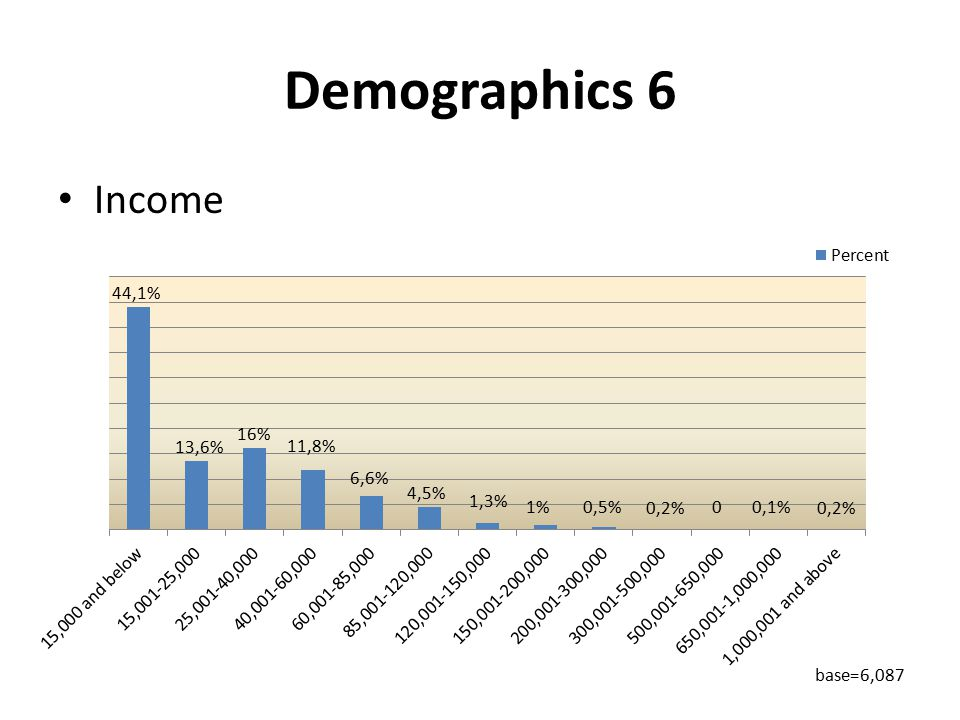 Demographics 6 Income