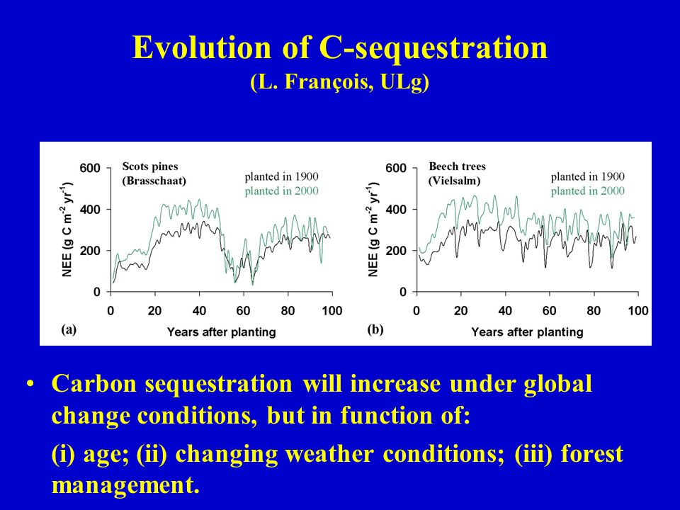 Evolution of C-sequestration (L.