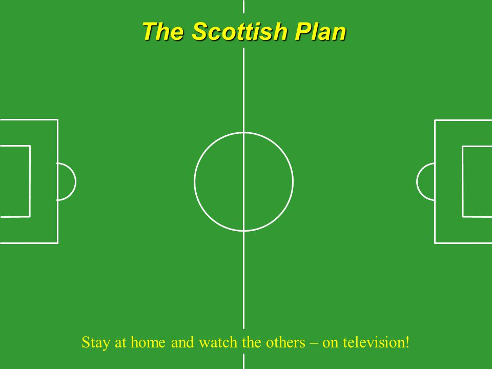 The Scottish Plan Stay at home and watch the others – on television!