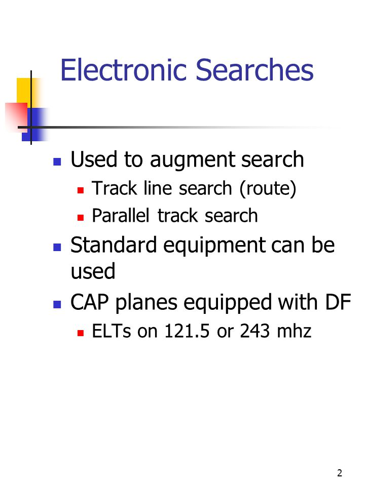 3 Homing Method Used with DF equipment Start at 5000 to 10000 ft AGL Keep needle centered Determine if heading towards or away from target Crossover indications Problems Stray signals Other aircraft Low altitude reflections