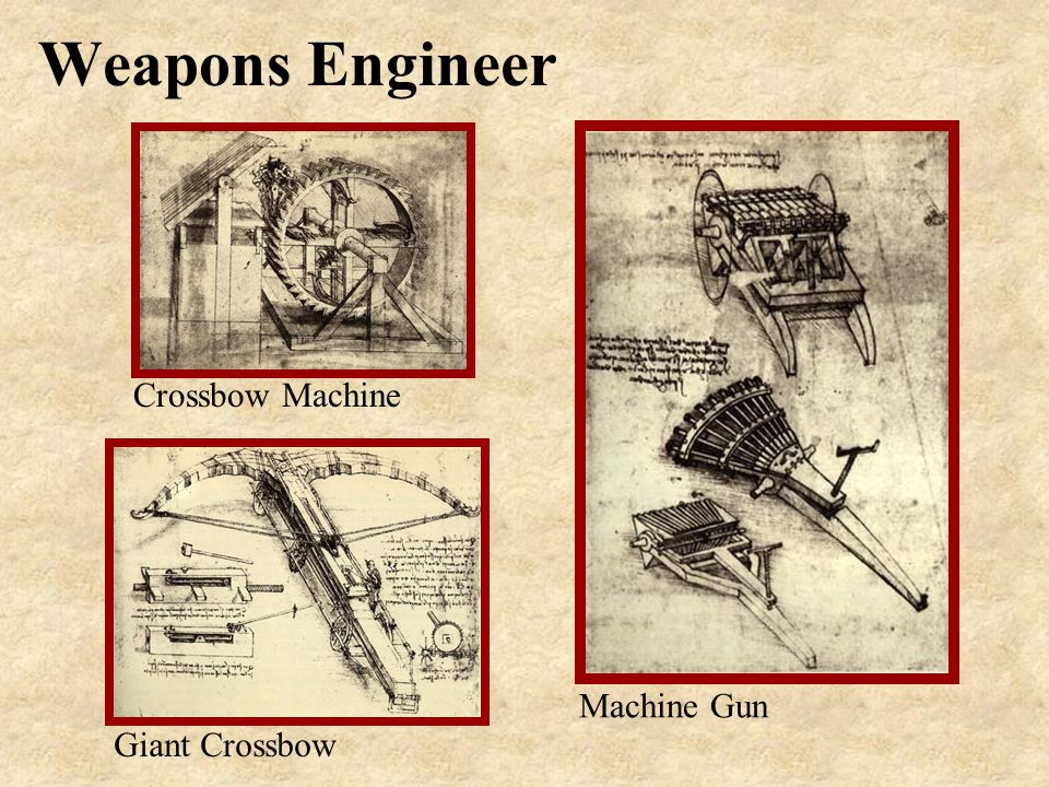 Weapons Engineer Crossbow Machine Giant Crossbow Machine Gun