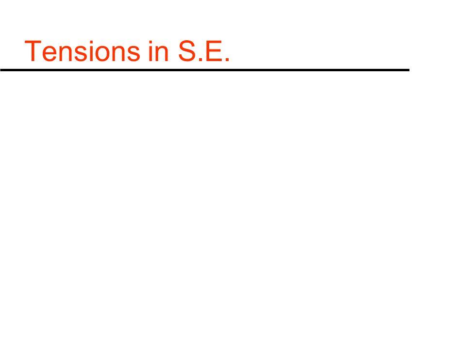 Tensions in S.E.
