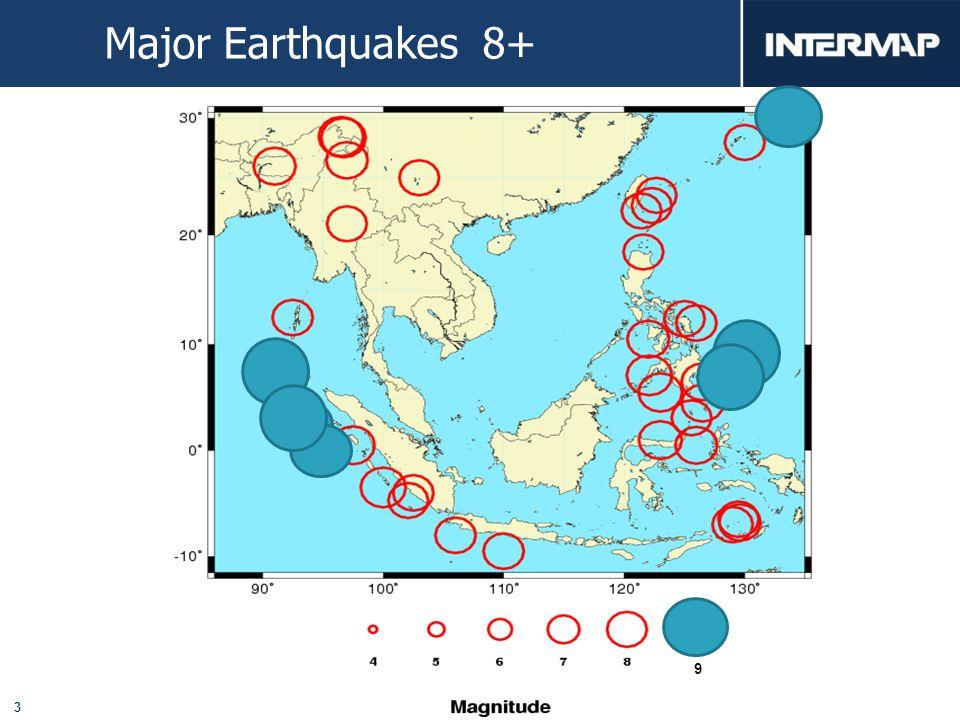 3 Major Earthquakes 8+ 9