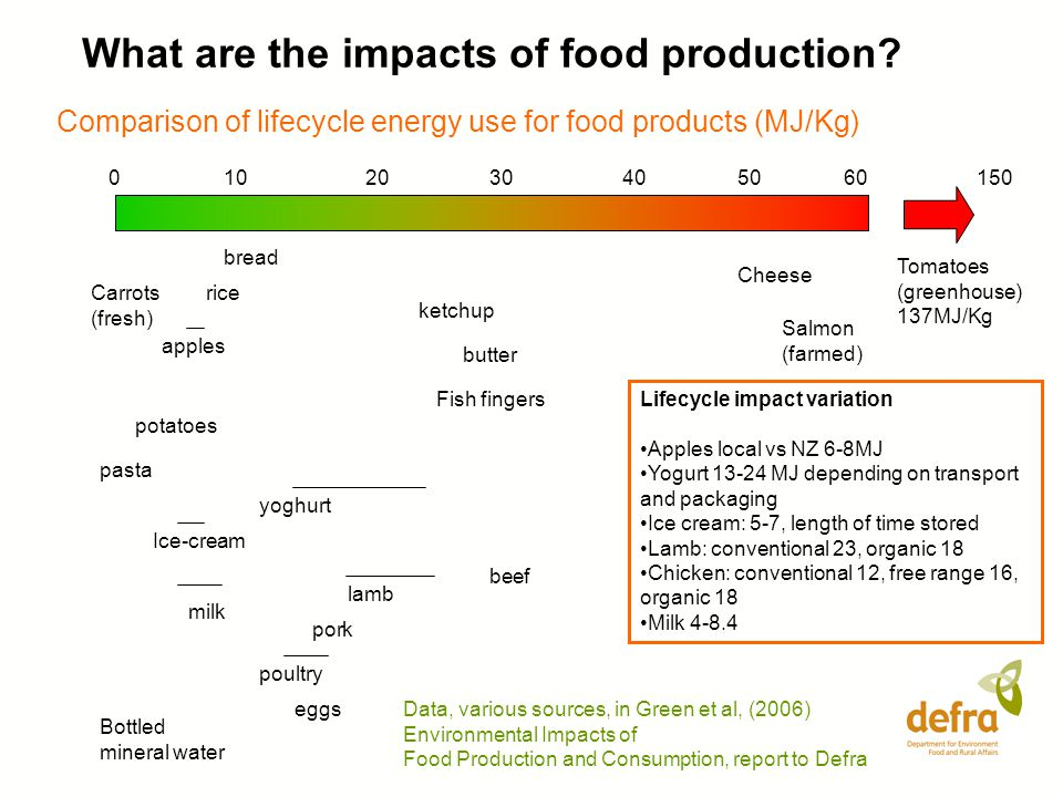 What are the impacts of food production.