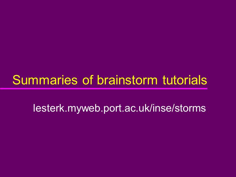 Summaries of brainstorm tutorials lesterk.myweb.port.ac.uk/inse/storms