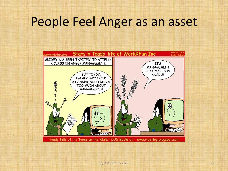People Feel Anger as an asset 21By B.K. Shib Prasad