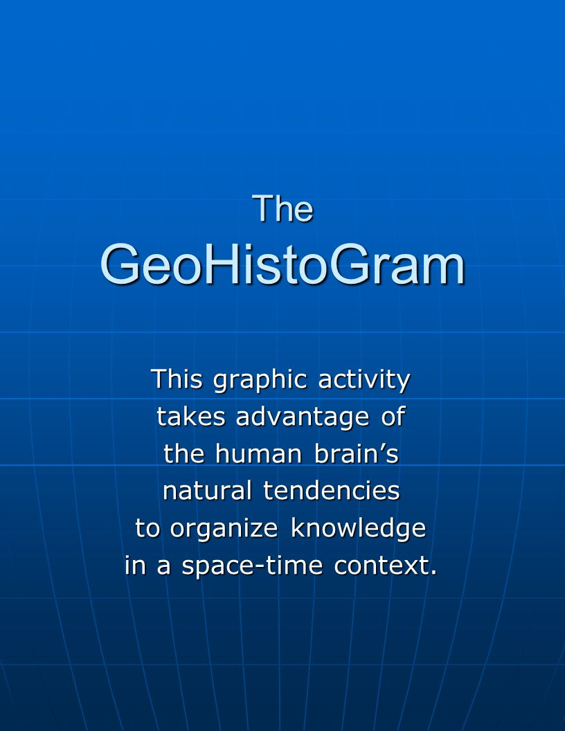 Here is just some of the information that can be shown on the GeoHistoGram.