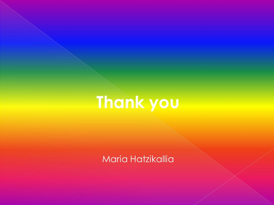 Thank you Maria Hatzikallia