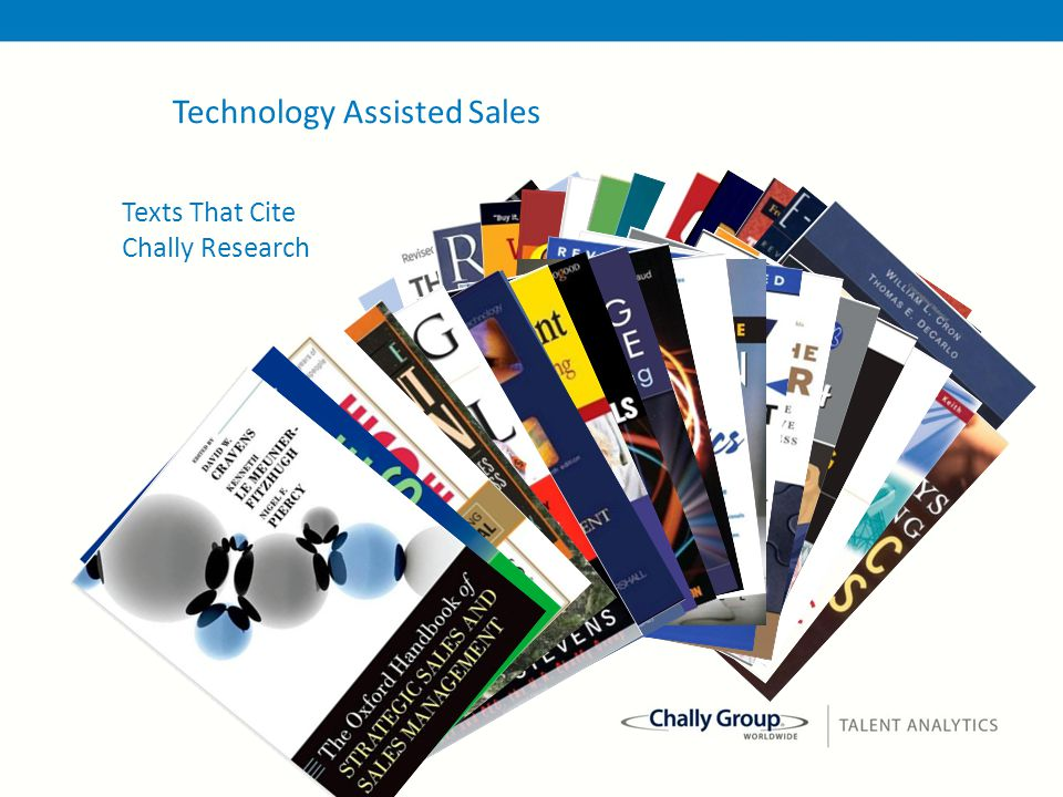 42 Texts That Cite Chally Research Technology Assisted Sales