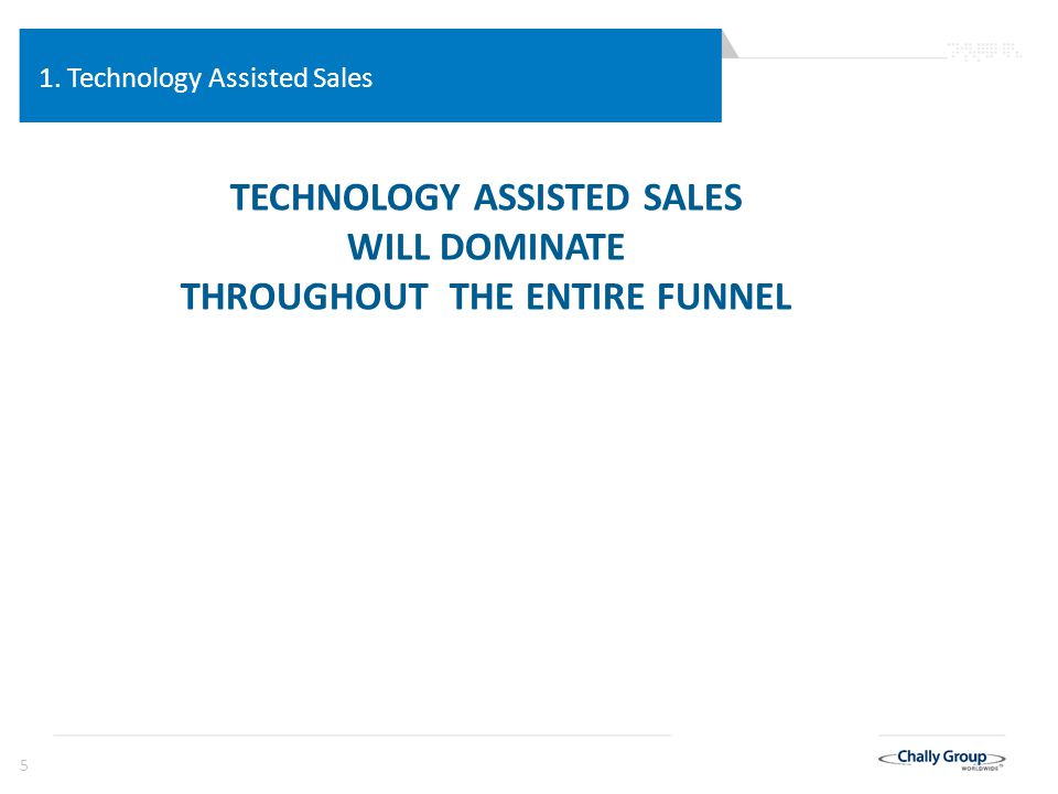 36 Technology Assisted Sales Sales in the Internet Age 1.The digital impact has switched the information advantage to the customer.