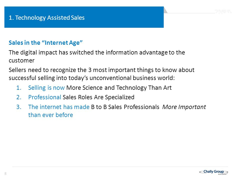39 Technology Assisted Sales The Past: A Lack of Sales technology 1.Anecdotal personal experience has substituted for science and technology, most sales books were star syndrome: I was a successful… This is how I did it, If you do it this way you can be successful, too! 2.Benchmarking and Top Grading approaches are equally flawed 3.Most case studies don't pass the placebo effect with results that could happen by chance