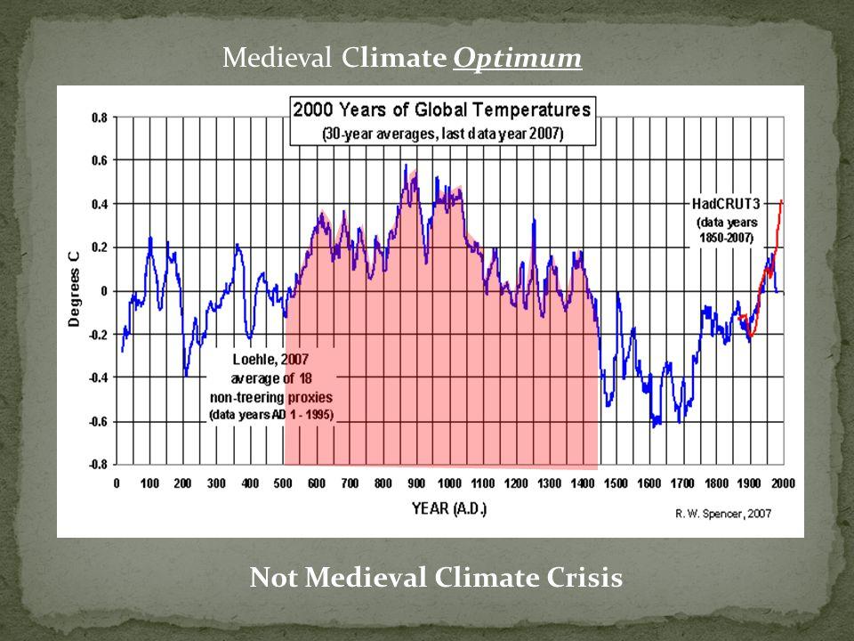 Not Medieval Climate Crisis Medieval Climate Optimum