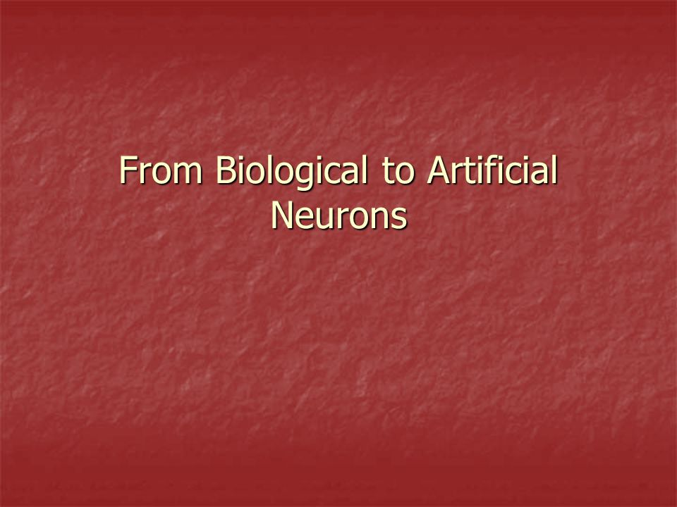 From Biological to Artificial Neurons