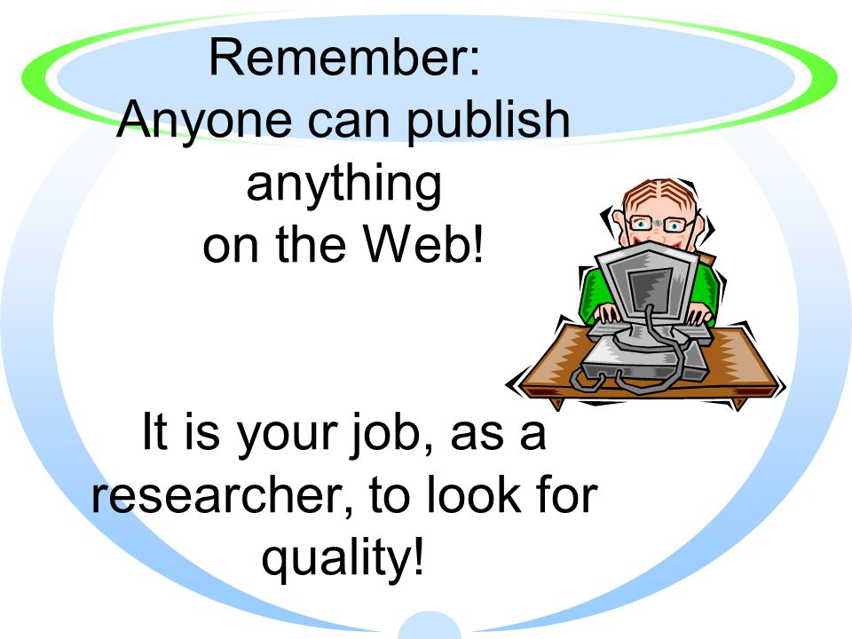 R ELIABILITY: Does the source present a particular view or bias.