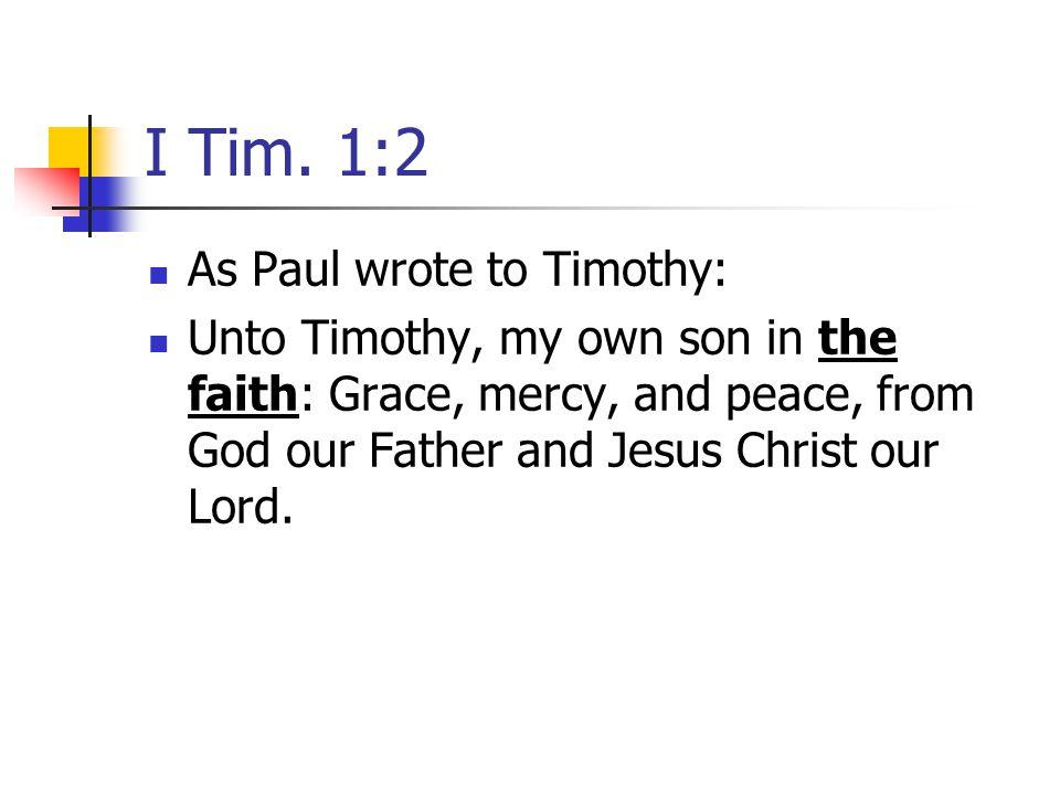 I Tim.