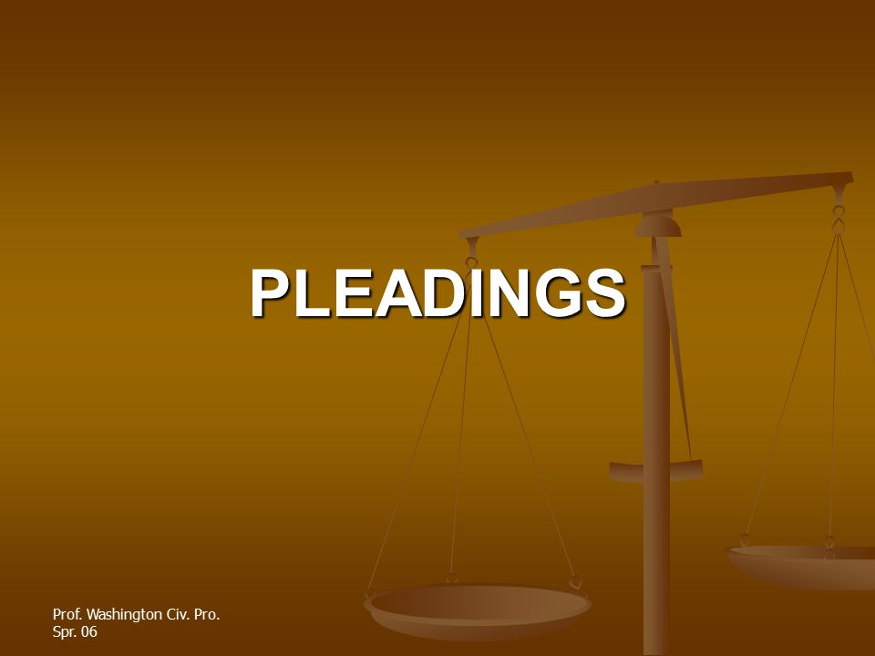 PLEADINGS The pleading stage of litigation involves the complaint, the answer and pre-answer motions The pleading stage of litigation involves the complaint, the answer and pre-answer motions The pleading stage is governed by FRCP 8 (claims, defenses, affirmative defenses), FRCP 9 (specially pled matters), FRCP 11 (ethical requirements), and FRCP 12 (pre- answer motions) The pleading stage is governed by FRCP 8 (claims, defenses, affirmative defenses), FRCP 9 (specially pled matters), FRCP 11 (ethical requirements), and FRCP 12 (pre- answer motions)